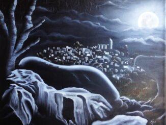 """""""Una noche de luna en la Tecampana"""" Por el Talentoso Artista Teloloapense: Arturo Mojica Uriostegui"""