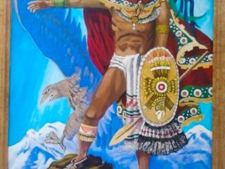 """""""Cuauhtémoc"""" pintura de Francisco Abad Terrones"""